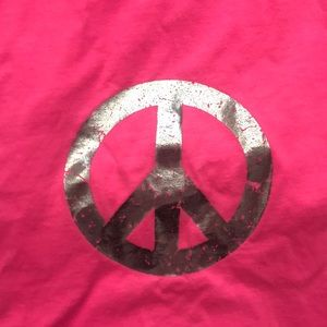 Justice Accessories - Justice Hot Pink Silver Peace Sign Scarf